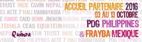 ACCUEIL 2016 des partenaires  PDG et FRAYBA